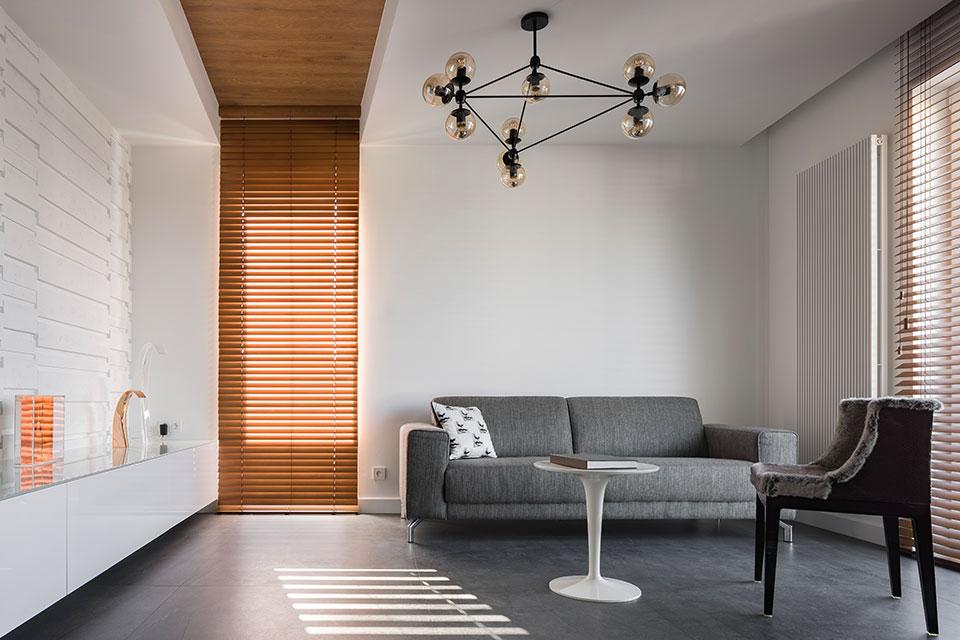 horizontale lamellen hout living