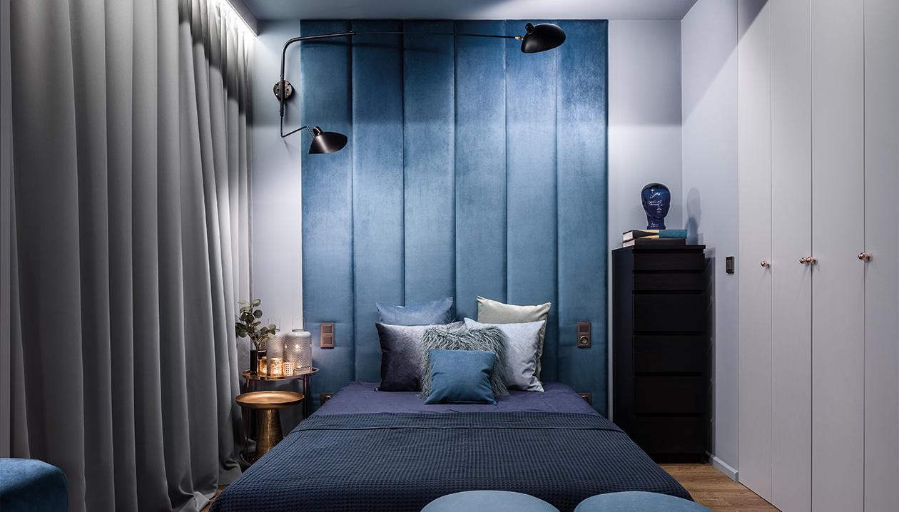 Slaapkamer verduisterd met gevoerde overgordijnen