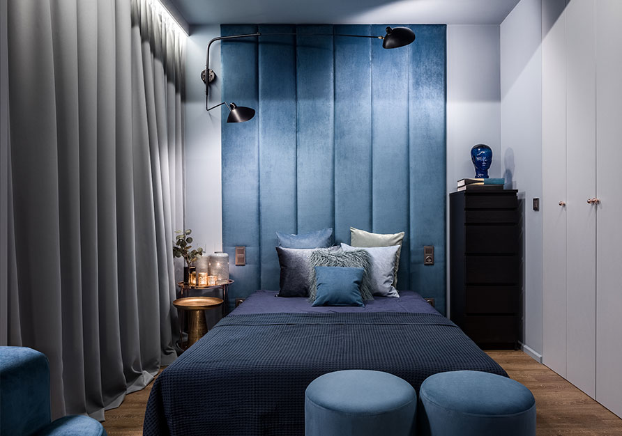 Lined curtains are ideal for a bedroom.