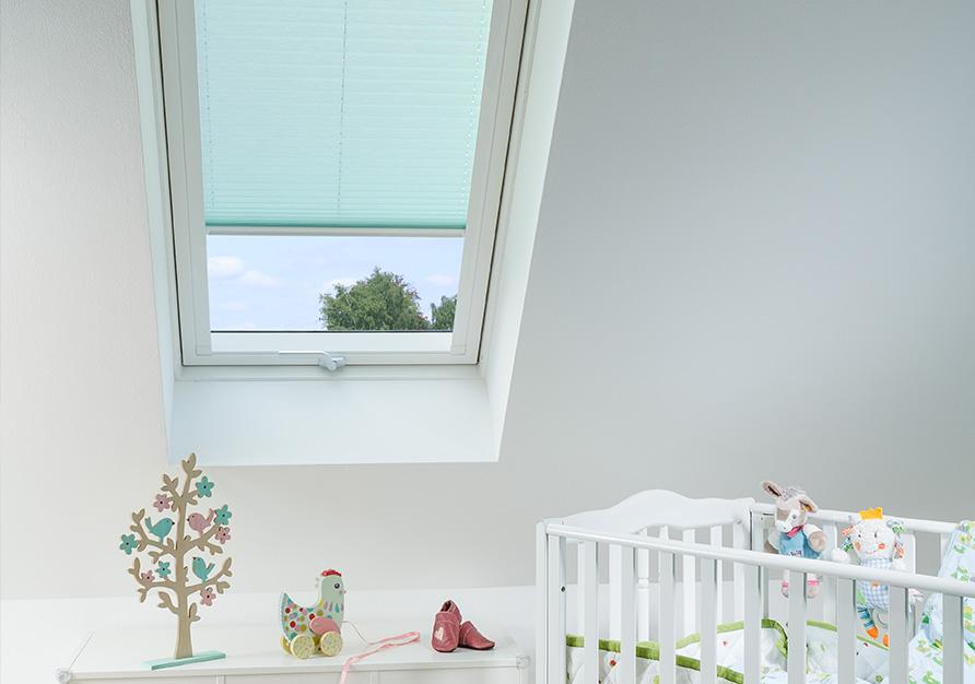 Un plissé est idéal pour les fenêtres de toit.