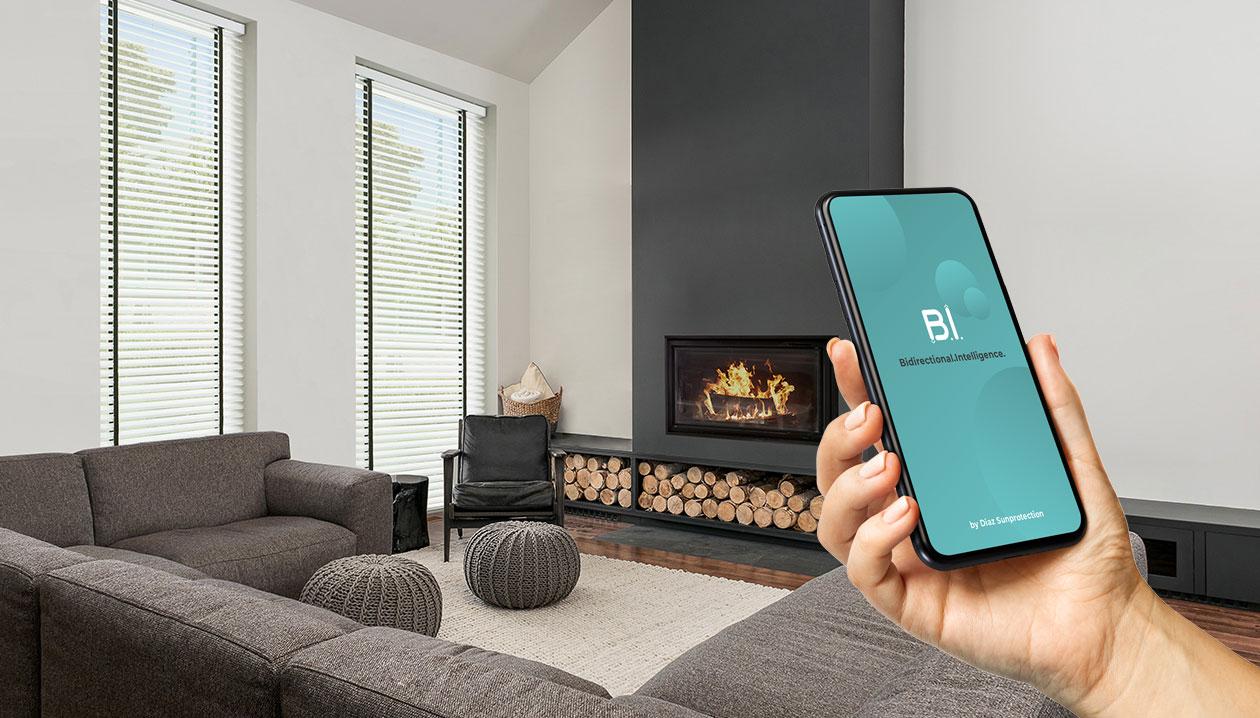Elektrische bediening ook mogelijk met een app.