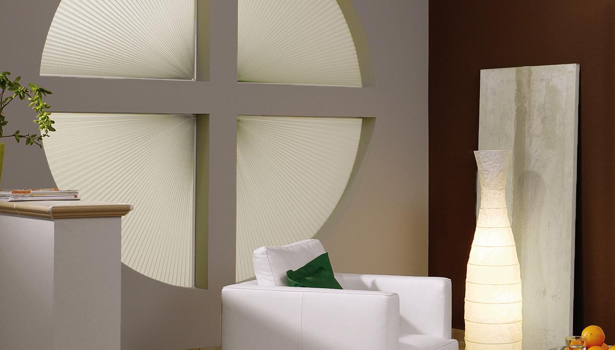 Presque tous les types de fenêtres peuvent être recouverts d'un plissé
