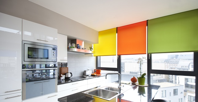Rolgordijnen in verschillende kleuren